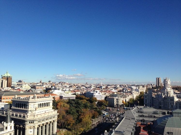 view from circulo de bella artes